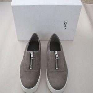 Vince Warner Zipper Platform Slip-on Sneaker